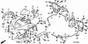 Honda Atv 2007 Oem Parts Diagram For Front Fender
