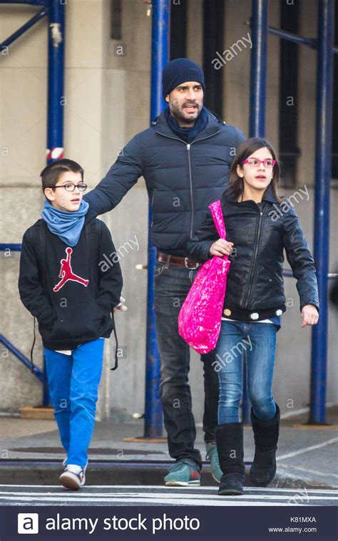 Daft omitting a defensive midfielder and choice of first sub impressively, tuchel got the better of guardiola for a third game in a row, after chelsea beat city in. Pep Guardiola. Pep Guardiola seen with his family in New York Stock Photo, Royalty Free Image ...
