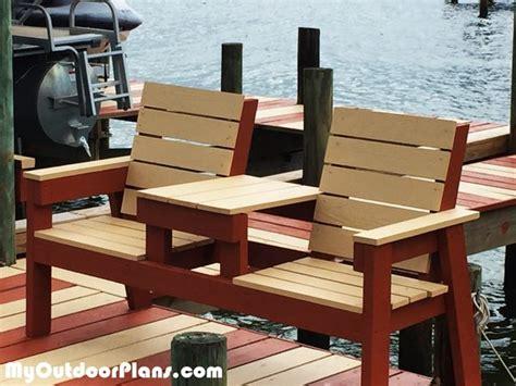 diy  double chair bench  table myoutdoorplans