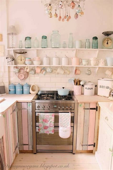 shabby chic pink and blue kitchen 50 sweet shabby chic kitchen ideas 2017