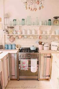 50 sweet shabby chic kitchen ideas 2017 With kitchen colors with white cabinets with pink elephant wall art
