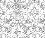 Morris William Damask Fabric Growing Own Coloring Spoonflower Colouring Sheets Patterns Nouveau Fabrics Peacoquettedesigns Pattern Pngio sketch template