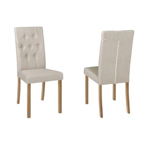 lot chaise salle a manger lot de 2 chaises salle à manger karisma en tissu l achat
