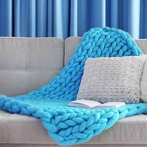 Tricoter Un Plaid En Grosse Laine : grosse laine pour plaid trendy tricoter la premire range de la couverture en laine de mrinos ~ Melissatoandfro.com Idées de Décoration