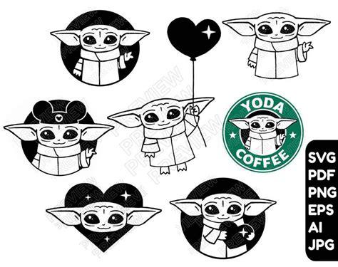 Baby yoda is off the mat! Baby Yoda SVG BUNDLE 7 vector cut files Baby Yoda cliparts ...