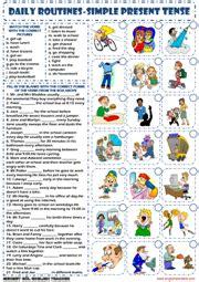 present simple tense esl printable worksheets and exercises