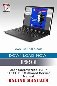 1994 Johnson  Evinrude 40hp E40ttler Outboard Service
