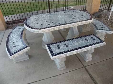 innovative concrete patio furniture concrete patio table