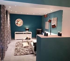 carrelage bleu canard chaioscom With good couleur tendance peinture salon 1 couleur on fait sa deco en rose et bleu pastel