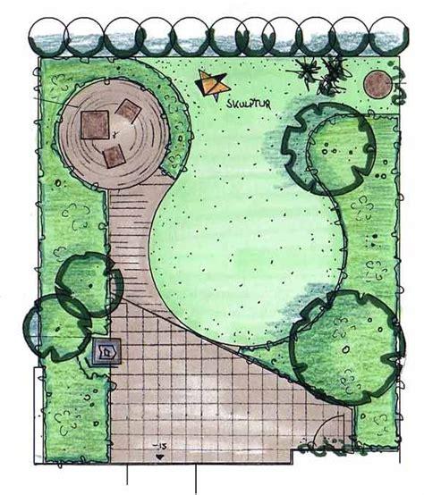 Garten Gestalten Grundriss garten mit sonnenterrasse planen variante 2 garten