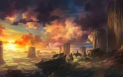 Western Wallpapers Artwork Sunset Desktop Backgrounds