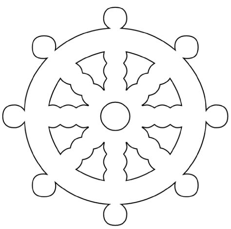 Boat Wheel Outline by Ship Wheel Clip Art At Clker Vector Clip Art Online