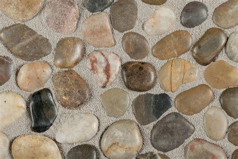pebble tile mosaics optico mosaic tile tumbled series garden blend
