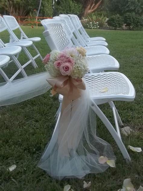 ceremony pew  chair decorations