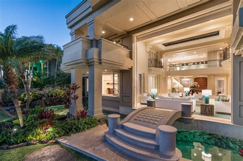 oceanfront home  honolulu  stunning architectural details  lush tropical landscaping idesignarch interior design architecture