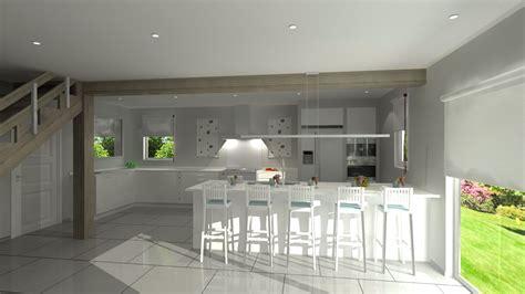 cuisine ilot central cuisson cuisine avec ilot central plaque de cuisson amnagement