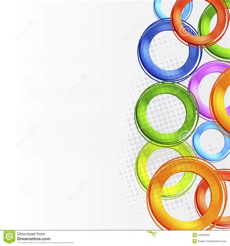 abstract colorful circle design royalty free stock images