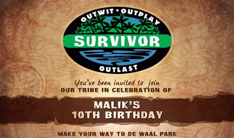 Outwit, Outlast, Outparty: A Survivor-themed party ...