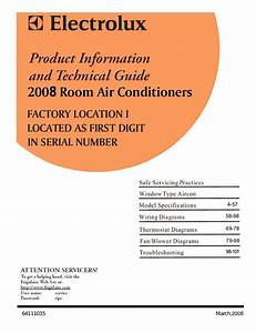 Frigidaire Air Conditioner Service Manual