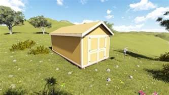 10x20 gable shed plan