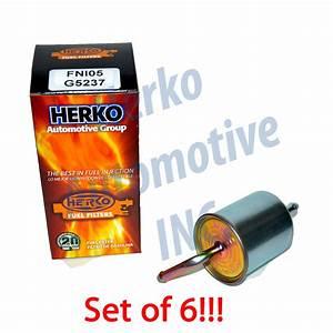 Set Of 6 Herko Fuel Filter Fni05 For Infiniti Nissan