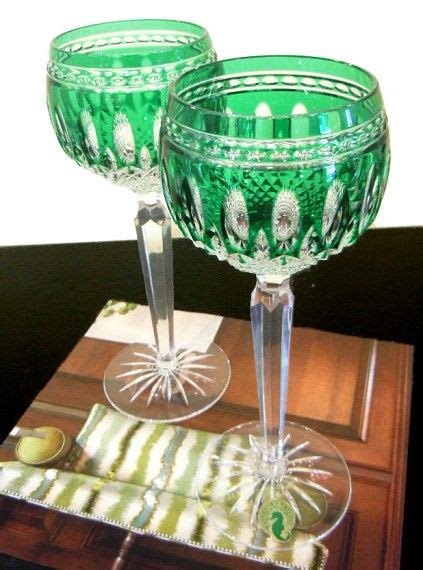 arrival green waterford crystal wine goblets
