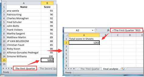 how to get or reference cell from another worksheet in excel