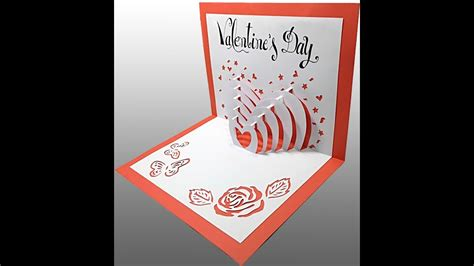 Pop Up Card Valentine's Day