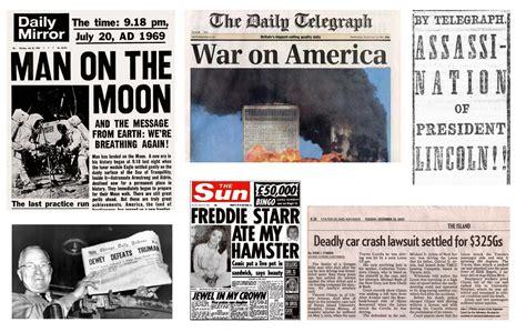 Newspaper report examples resource pack. Newspaper Headline Template | Template Business
