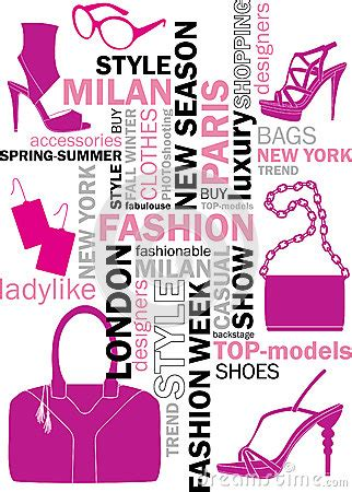 fashion words stock images image