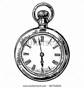 Pocket Watch clipart sketch - Pencil and in color pocket ...