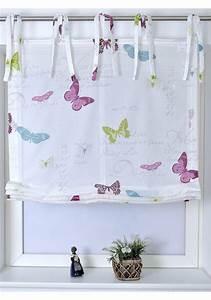 Kinderzimmer Gardinen Schmetterling : raffrollo kutti mit bindeb nder online kaufen otto ~ Markanthonyermac.com Haus und Dekorationen