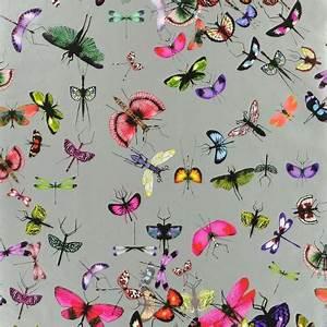 Papier Peint Papillon Oiseau : papier peint zinc mariposa christian lacroix atelier du ~ Zukunftsfamilie.com Idées de Décoration