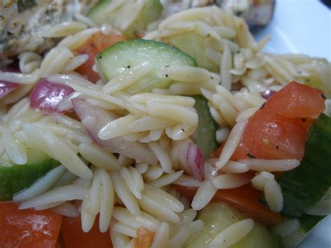 Orzo Cucumber Tomato Salad
