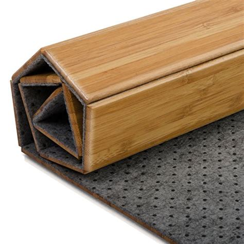 tapis de bain casa pura 174 en bambou tapis de sauna 2 coloris