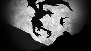 au58-skyrim-dragon-illustration-art-bw-wallpaper