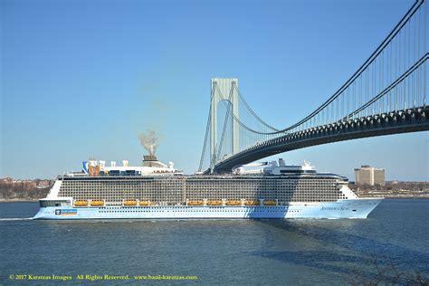 Images Of Cruiseship Mv 'anthem Of The Seas' Departing New