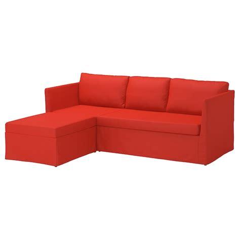 brathult sofa cama esquina vissle rojonaranja ikea