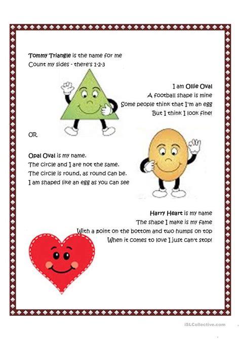shape poem  images preschool poems shapes