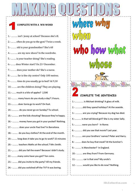 Making Questions Worksheet  Free Esl Printable Worksheets Made By Teachers