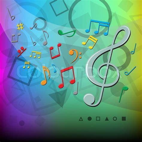 Die Moderne Abstrakte Musik Noten Und Geometrischen Formen