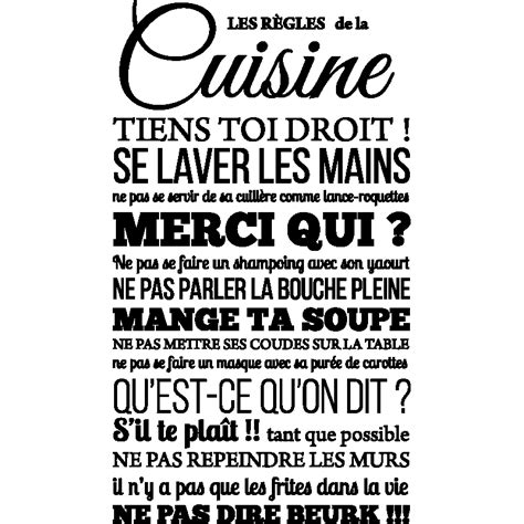 stickers cuisine design stickers muraux citations sticker les rgles de la cuisine