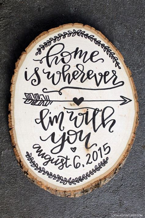 unique  year anniversary gift ideas giveaway crafts wood slice crafts  quotes