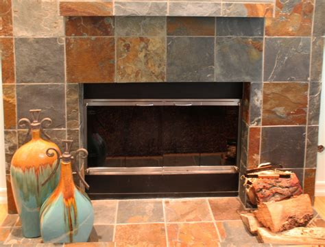 This Is A Partial View Of A Slate Fireplace Surround