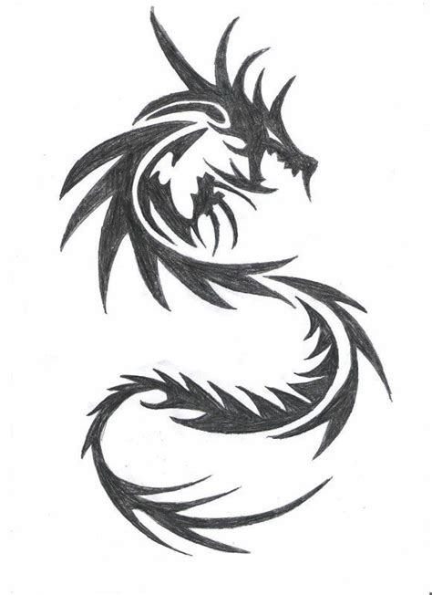 Photos Dragon Dessin Tribal  Dessin Tableaux Pinterest