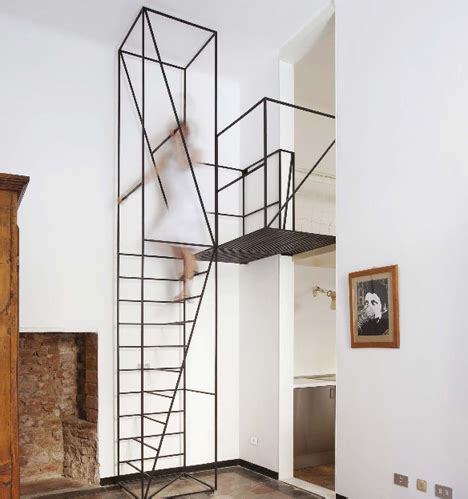wall mounted handrail height steps to saving space 15 compact stair designs for lofts