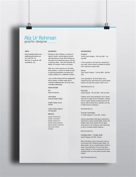Resume Template Psd Free by Free Minimalistic Resume Template Psd Titanui