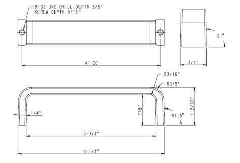 Elements [193-4bc] Die Cast Zinc Cabinet Pull Handle