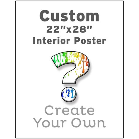 design your own poster create your own custom interior poster