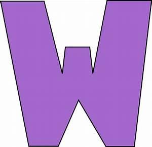 purple letter w clip art purple letter w image With w letter art